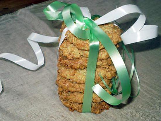 recette petits biscuits aux flocons d'avoine.