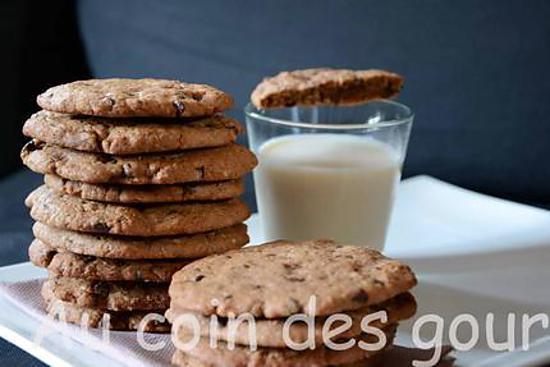 recette de cookies nutella par jeromek59. Black Bedroom Furniture Sets. Home Design Ideas