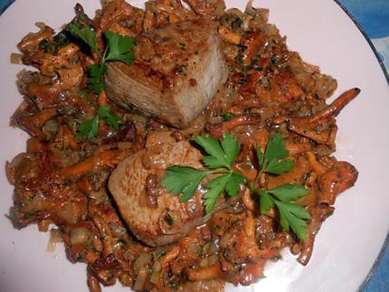 recette Pavé de veau aux girolles