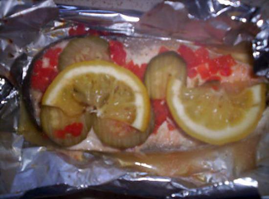 recette Darne de saumon en papillote