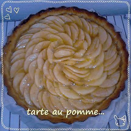 recette tarte au pomme (mon peché mignon)