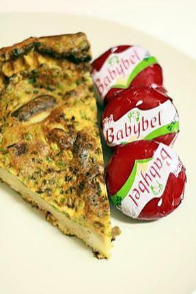 recette Quiche sans pâte aux boudins blancs et babybel