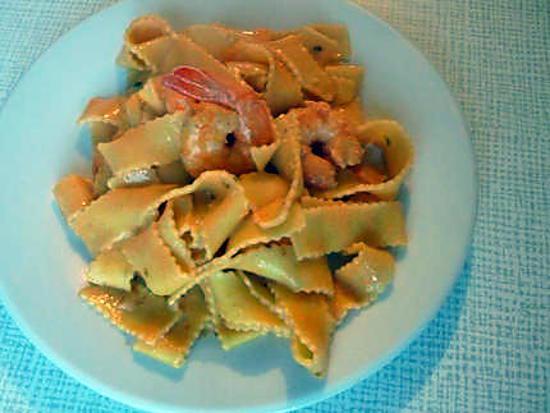 recette Tagliatelle aux scampis ( la vrai recette italienne)