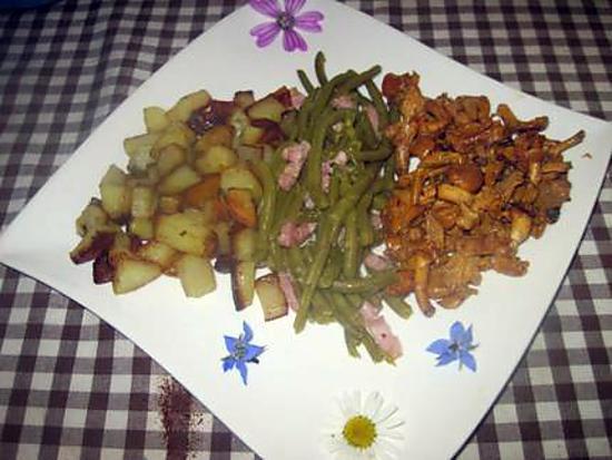 recette Pleurotes aux légumes.