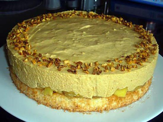 recette Bavaroise caramel & ses pommes confites