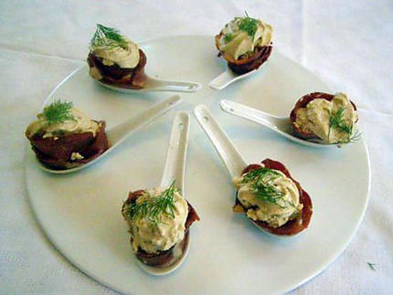 recette de cuill res de chantilly de foie gras et de. Black Bedroom Furniture Sets. Home Design Ideas