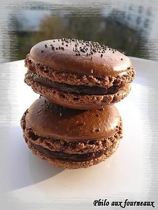 recette Macarons ganache au chocolat