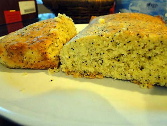 recette Quatre-quarts au citron et aux graines de pavot