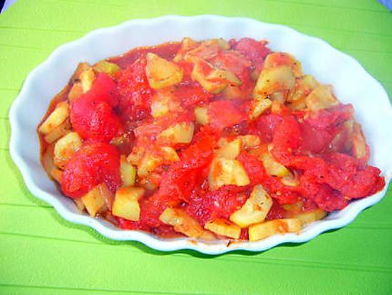 recette Courgette à la tomate