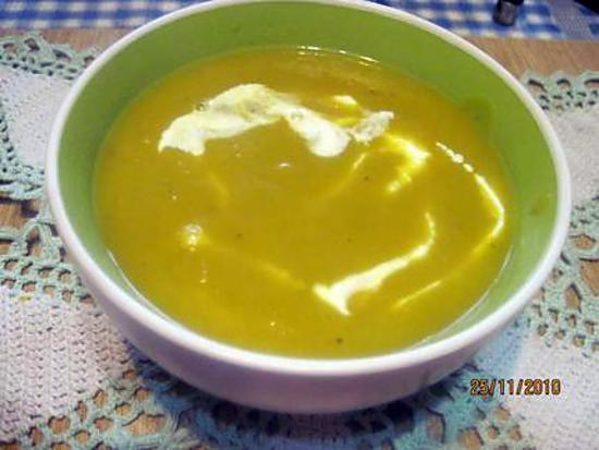 Recette de soupe au potiron d 39 italie la cr me fraiche - Soupe potiron cocotte minute ...