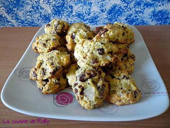 recette Cookies poire et chocolat au lait
