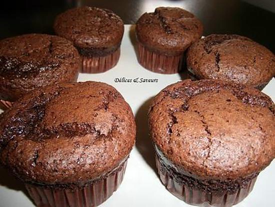 Recette De Muffins Tout Chocolat Par Délicesampsaveurs