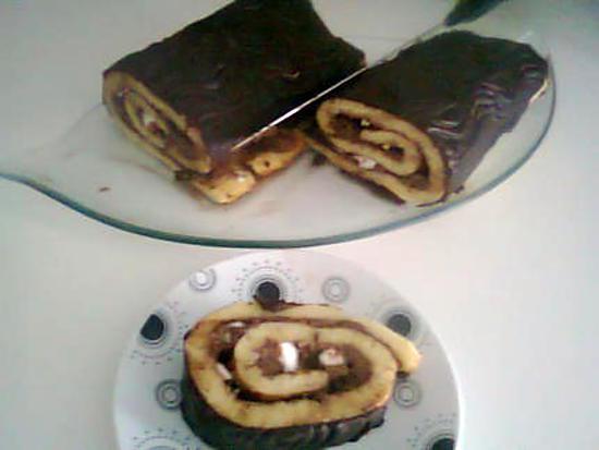 recette Gâteaux roulé chocolat meringue