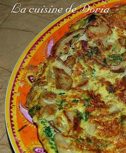 recette Omelette aux cèpes