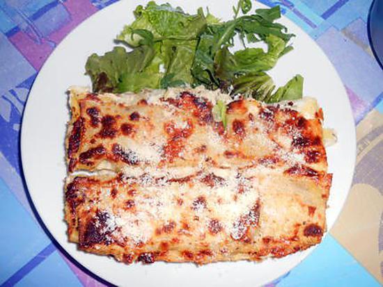 Cannelloni aux blettes sauce gorgonzola noix 430