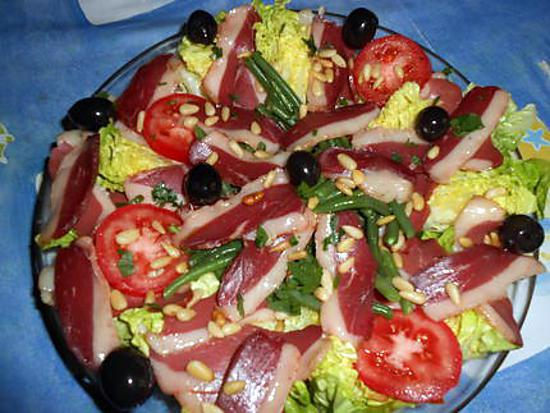 recette de salade de magret de canard fum version 2 par jeanmerode. Black Bedroom Furniture Sets. Home Design Ideas