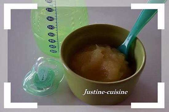 recette Compote de pomme pour bébé (à partir de 6mois)