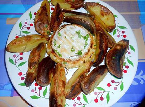 Camembert au four pommes de terre soufflées 430