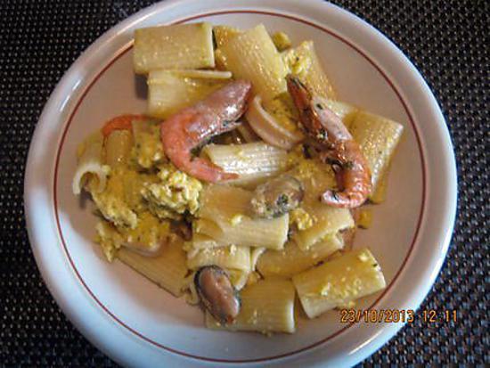 recette Carbonara  aux fruits de mer