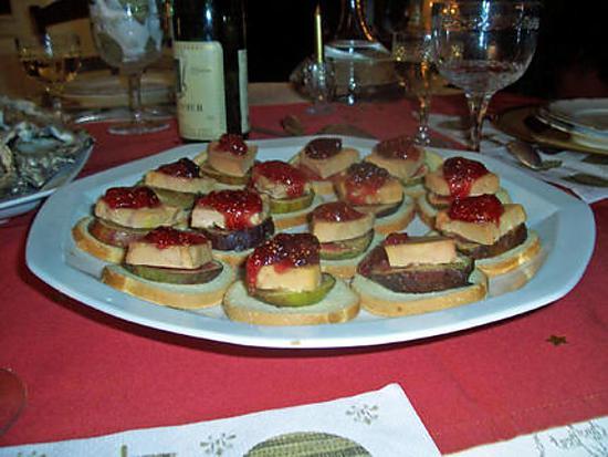 recette Petits toasts foie gras figues