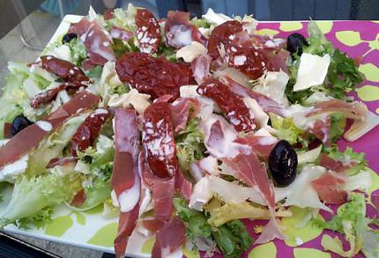 recette de salade italienne sauce parmesan. Black Bedroom Furniture Sets. Home Design Ideas