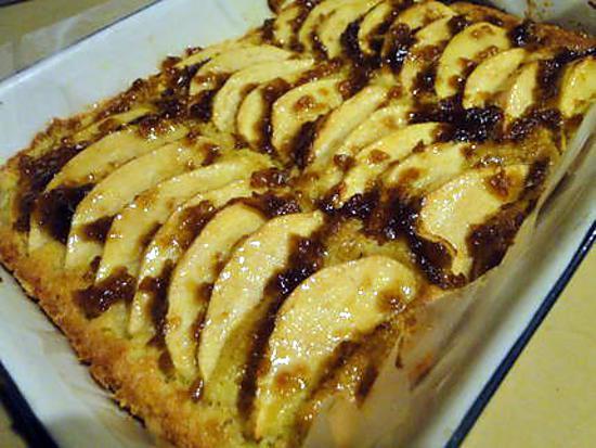 recette Carrés aux pommes et aux amandes
