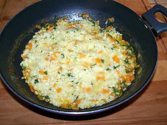 recette Risotto carottes persil