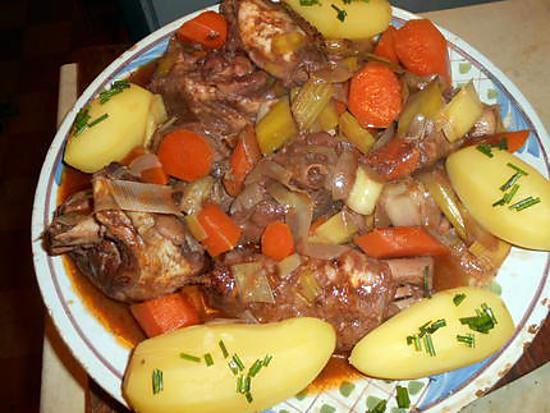 recette Mijoté de dinde au beaujolais