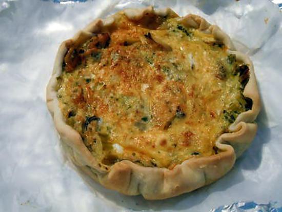 recette Tarte aux moules et fondue de poireaux