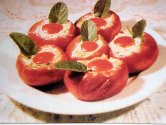 recette Tomates farcies aux oeufs
