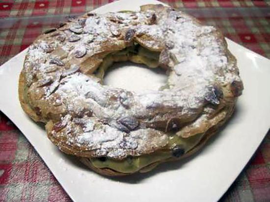 recette Couronne garnie de crème pâtissière.