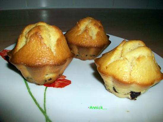 recette muffin pépites choco-raisins secs
