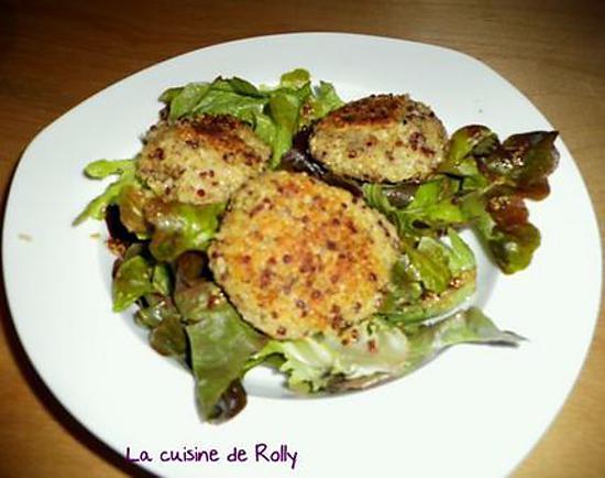 recette Galettes végétariennes de boulghour quinoa à la vache qui rit