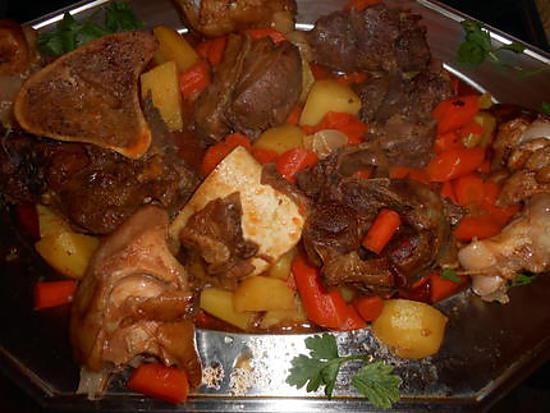recette Jarret de boeuf braisé aux carottes de sable