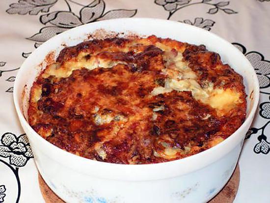 recette Quiche sans pâte lardon et roquefort