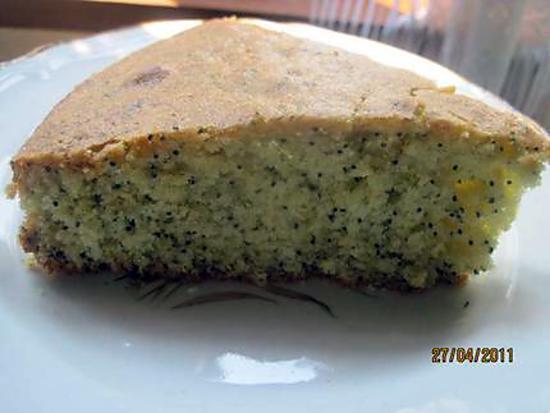 recette Gâteau au pavot bleu et zestes de citrons verts.