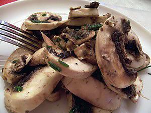recette Champignons de Paris en salade