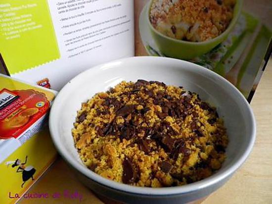 recette Crumble banane choco aux palets bretons