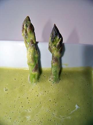 recette gaspacho d'asperges vertes!!!!!!!