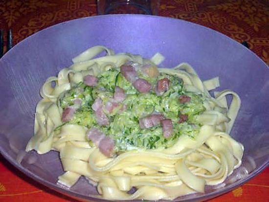 Recette de p tes courgettes lardons boursin - Courgette boursin cuisine ...