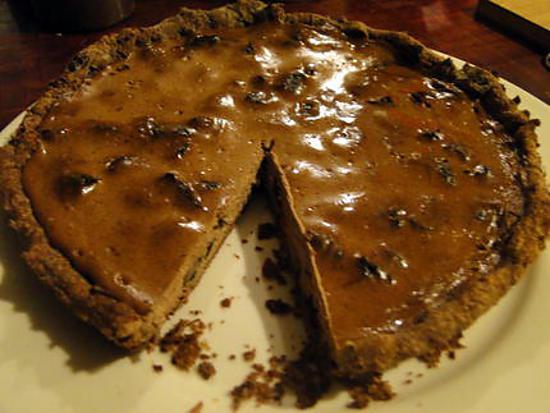 recette Tarte aux pruneaux et au chocolat