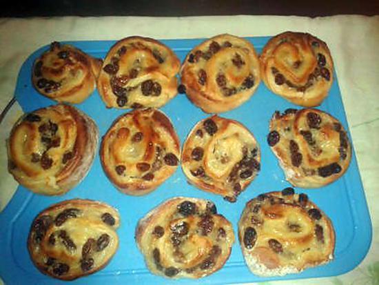 recette mes pains aux raisins
