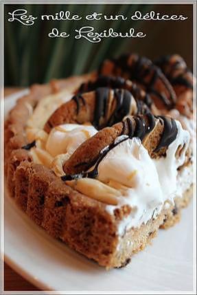 Recette de tarte facile au beurre d 39 arachide et aux brisures de chocolat - Tarte aux chocolat facile ...