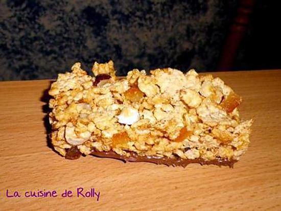 recette Barres de céréales aux écorces d'orange et noisette