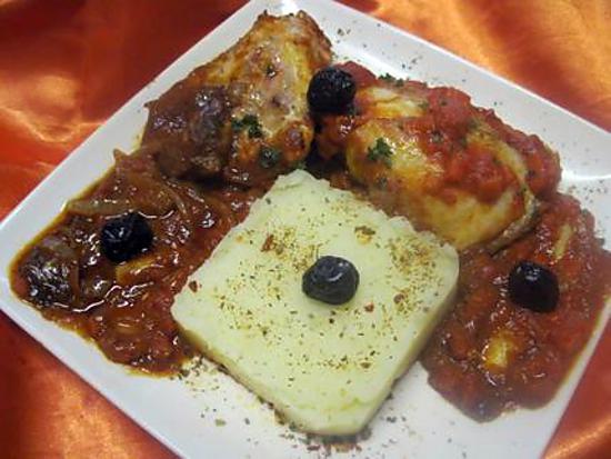 recette Pillons de poulet à la sauce tomates Massalé.