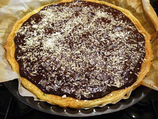 recette de tarte chocolat poires noix de coco. Black Bedroom Furniture Sets. Home Design Ideas