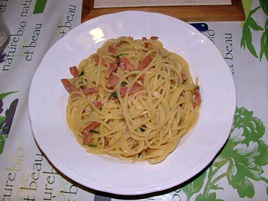 recette Spaghetti  carbonara di mia zia (spaghetti carbonara, recette de ma tante)