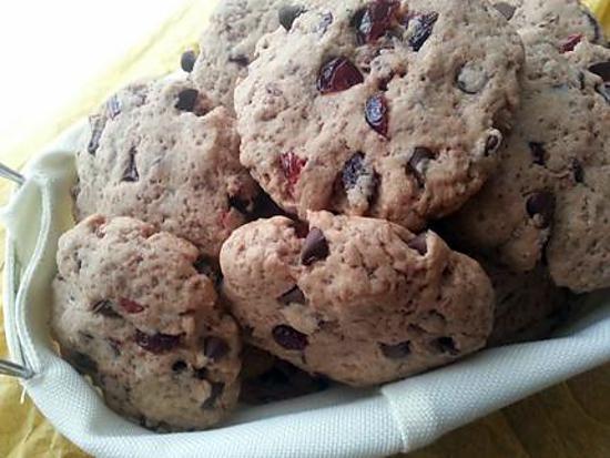 recette Cookies Moelleux aux Cranberries et Pépites de Chocolat