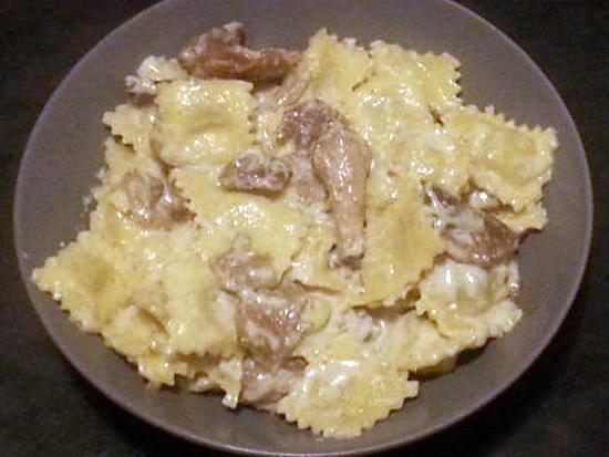 recette ravioli 4 fromages sauce au roquefort
