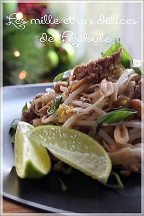 recette ~Pad thaï au porc haché~